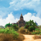 Antike Pagoden in Bagan.